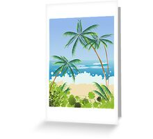 Beach landscape Greeting Card