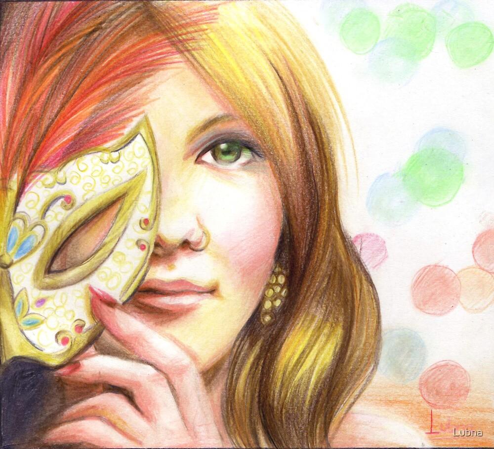ElevenEleven: she smiles behind the mask by Lubna