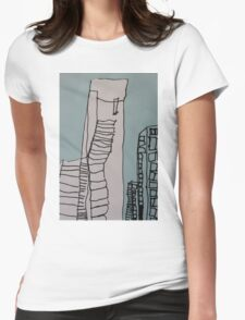 Eureka Tower  Womens Fitted T-Shirt