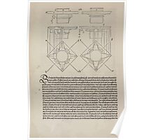 Measurement With Compass Line Leveling Albrecht Dürer or Durer 1525 0096 Repeating Shapes Poster