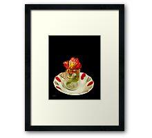 Flower in a tea cup Framed Print