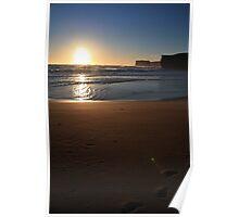 Beach near Port Campbell Poster