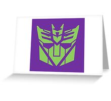 Deceptibot icon  Greeting Card
