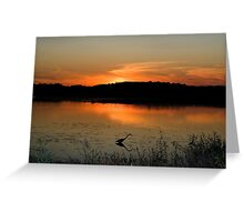 Sunset at Bombay Hook Greeting Card