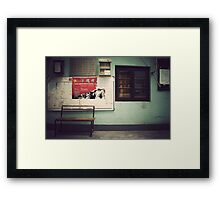 China : In the streets of Shanghai Framed Print