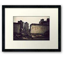 China : In the streets of Shanghai 2 Framed Print