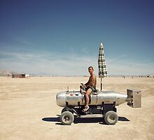 Burning man : human bomb on the Playa by Jeremy  Barré