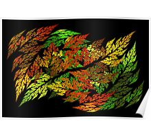 Autumn Leaves in Harmony Poster
