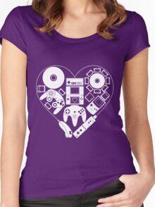 Nintendo Love Women's Fitted Scoop T-Shirt