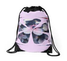 light bluish flowers Drawstring Bag