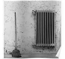 Broom and Radiator Poster