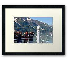 Photog Action - Hubbard Glacier Framed Print