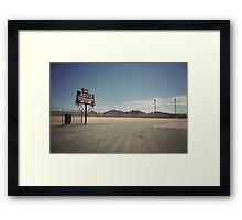 8000 miles USA : Nevada1 Framed Print