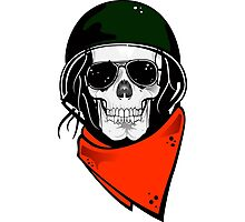 Skull Helmet  Photographic Print
