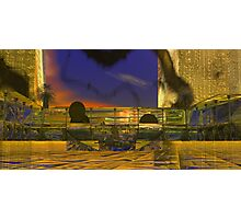 Tanya N. Plaza at Sunset. Photographic Print