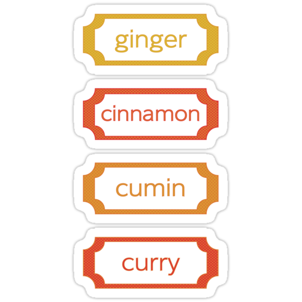 spice labels by sabrina card