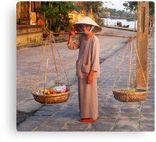 Woman selling fruit Metal Print