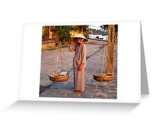 Woman selling fruit Greeting Card
