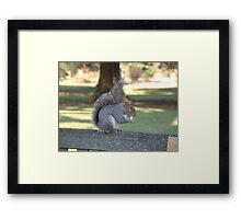 Saying Grace before lunch Framed Print