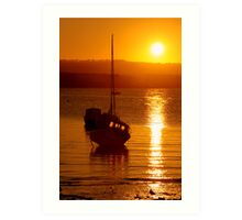 Skerries Harbour October Sunset  Art Print