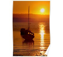 Skerries Harbour October Sunset  Poster