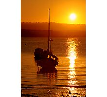 Skerries Harbour October Sunset  Photographic Print