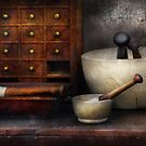 Apothecary - Pestle & Drawers by Mike  Savad
