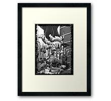 Batmarine vs Space Joker Framed Print