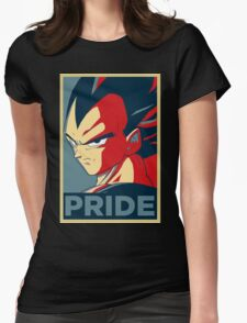 Vegeta Pride  Womens Fitted T-Shirt