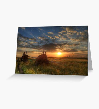 Sundown over the Romney Marsh Greeting Card