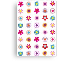 Floral Surprise Pattern Canvas Print