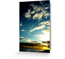 I See Skies of Blue Greeting Card