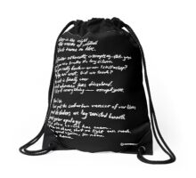 Black turns to blue Drawstring Bag