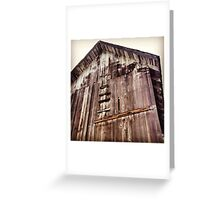 Distressed Barn in Wine Country  Greeting Card