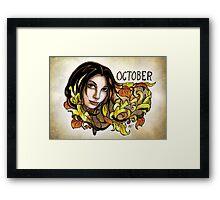 Dee of October Framed Print