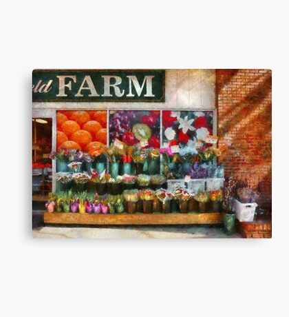 Store Front - The flower stand Canvas Print