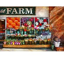 Store Front - The flower stand Photographic Print