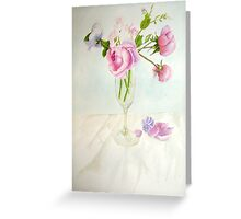 Wineglass of Roses Greeting Card