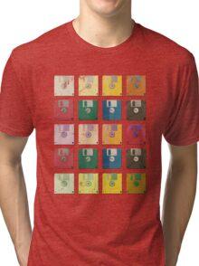 Vintage Computer Diskettes  Tri-blend T-Shirt