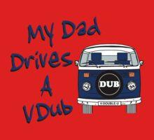 My Dad Drives a VDub (Blue) One Piece - Short Sleeve