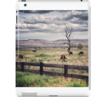 Snag Tree in a Pasture with Horses  iPad Case/Skin