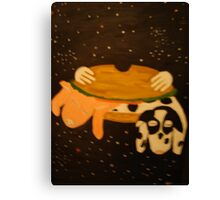pig and cow  bacon and beef Canvas Print