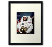 Lebron James Astronaut Framed Print