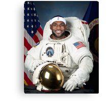 Lebron James Astronaut Canvas Print