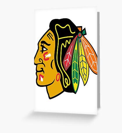 blackhawks Greeting Card