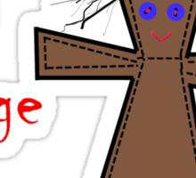 Voodoo Doll Seeks Revenge Sticker