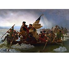 Air Mag Washington Crossing The Delaware  Photographic Print