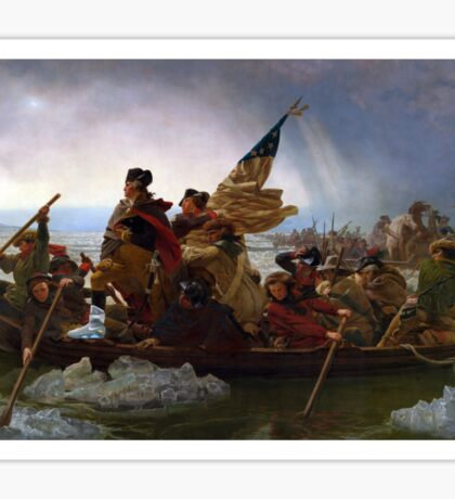 Air Mag Washington Crossing The Delaware  Sticker