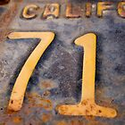 71 California Vintage License Plate by Eric Gangnath
