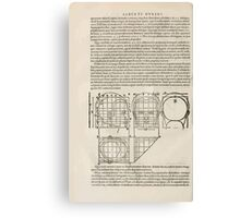 Famous Painter Parts Human Body Symmetry Four Books Geomety 1557 Albrecht Durer 0054 Head Canvas Print